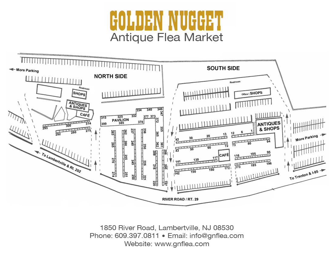 Golden Nugget Antique Flea Market Antiques Collectibles 7 Round Wiring Diagram Out Of Doors Mart Layout